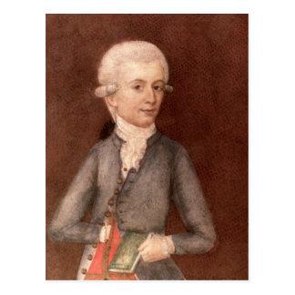 Carte Postale Wolfgang Amadeus Mozart, c.1780