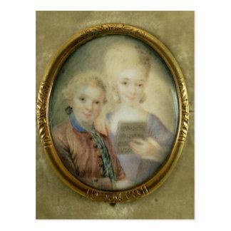 Carte Postale Wolfgang Amadeus Mozart et sa soeur