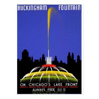 Carte Postale WPA - fontaine de Buckingham