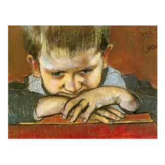 Carte Postale Wyspianski, étude d'un enfant - Mietek, 1904