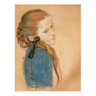 Carte Postale Wyspianski, portrait d'une fille, 1900