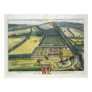 Carte Postale Wytham dans le comté de Berkshire a gravé par Joha