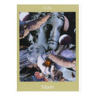 Carte Postale XVIII tarot de Voyager de lune