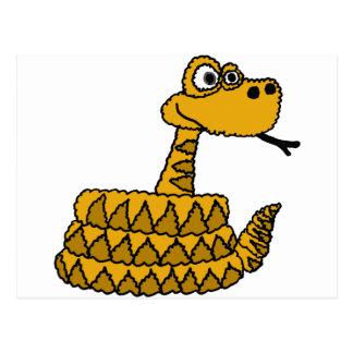 Carte Postale XX bande dessinée géniale de serpent à sonnettes