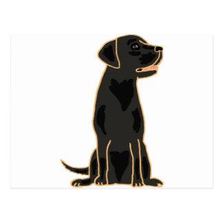 Carte Postale XX conception noire impressionnante de labrador