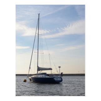 Carte Postale Yacht bleu