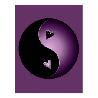 Carte Postale yang pourpre de yin