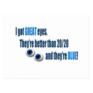 Carte Postale Yeux bleus