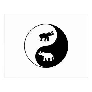 Carte Postale Yin et éléphants de Yang