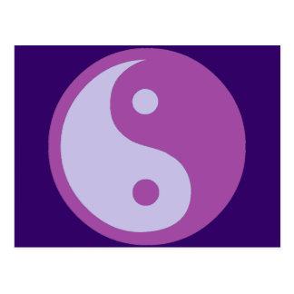 Carte Postale Yin et Yang de douleur chronique