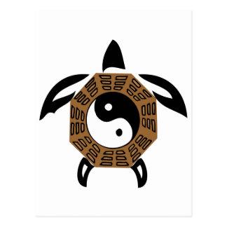 Carte Postale yin-Yang-tortue