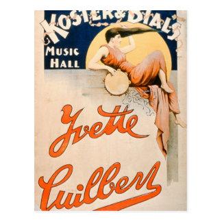 Carte Postale 'Yvette Guilbert (c.1869-1944) chez Koster et Bial