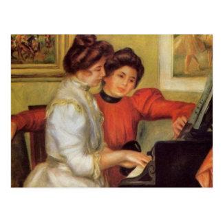 Carte Postale Yvonne de Renoir et Christine Lerolle au piano