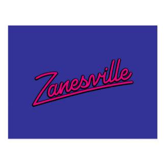 Carte Postale Zanesville en magenta