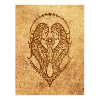 Carte Postale Zodiaque de Gémeaux âgé par cru
