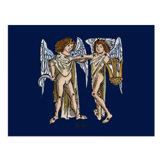 Carte Postale Zodiaque : Gémeaux, 1482