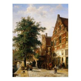 Carte Postale Zuiderhavendijk, Enkhuizen par Cornelis Springer