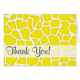 Carte Poster de animal de girafe de jaune jaune canari