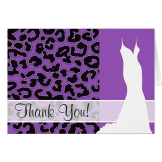 Carte Poster de animal lilas profond de léopard