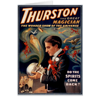 Carte Poster vintage de magicien de Thurston