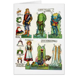 Carte Poupées de papier de conte de fées