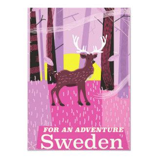 Carte Pour affiche de voyage de la Suède d'aventure une