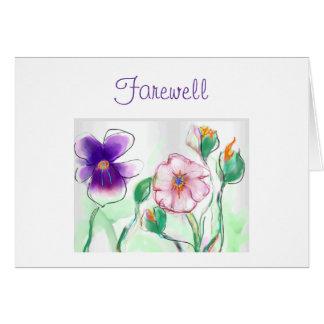 Carte pour aquarelle de Flowers>Farewell