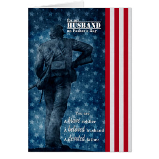 Carte pour la fête des pères militaire | du mari |