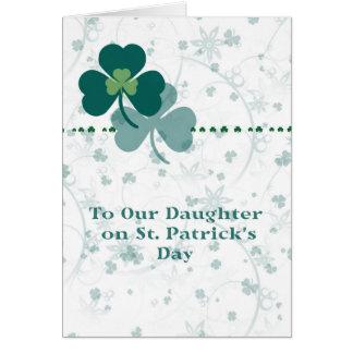 Carte pour la fille le jour de St Patrick