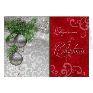 Carte pour le collègue/collègue à Noël