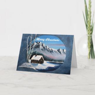 Winter mountain scene,