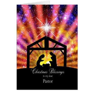 Carte Pour mon pasteur, Noël de coucher du soleil