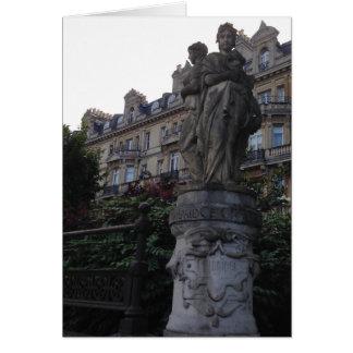 Carte pour notes anglais de statue