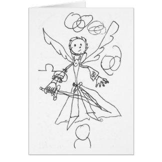Carte pour notes, ciel Worrior #2 de mesure