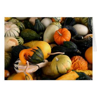 Carte pour notes coloré de courges d'automne