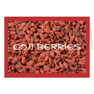 Carte pour notes de baies de Goji