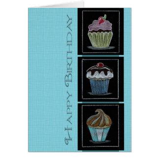 Carte pour notes de bonbons à anniversaire
