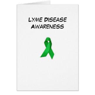 Carte pour notes de conscience de Lyme