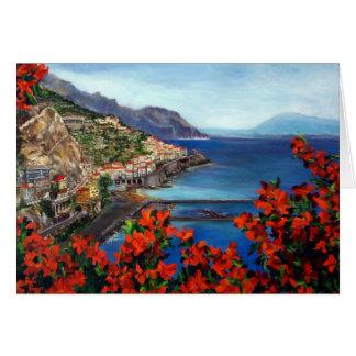 Carte pour notes de côte d'Amalfi