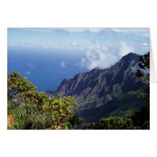 Carte pour notes de côte de Na Pali !