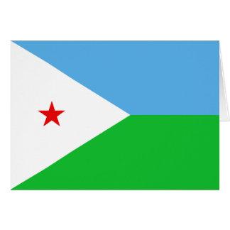 Carte pour notes de drapeau de Djibouti