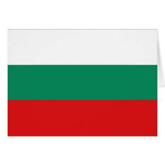 Carte pour notes de drapeau de la Bulgarie