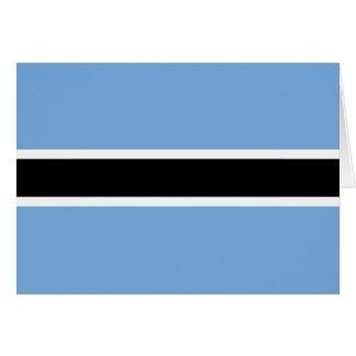Carte pour notes de drapeau du Botswana