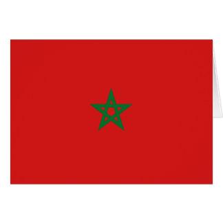 Carte pour notes de drapeau du Maroc