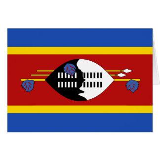 Carte pour notes de drapeau du Souaziland
