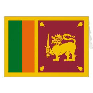 Carte pour notes de drapeau du Sri Lanka