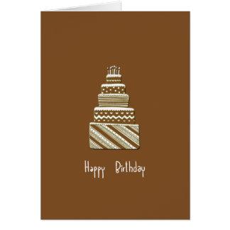 Carte pour notes de joyeux anniversaire