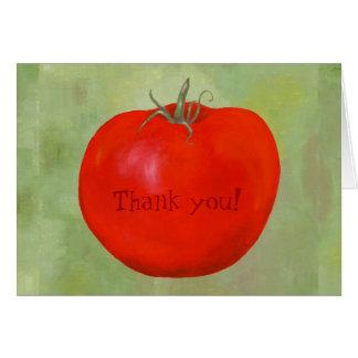 Carte pour notes de Merci de tomate