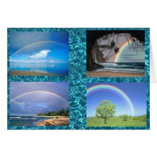 carte pour notes de plusieurs arcs-en-ciel