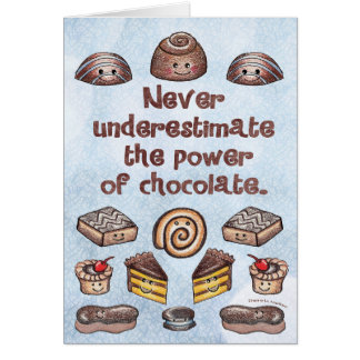 Carte pour notes de puissance de chocolat